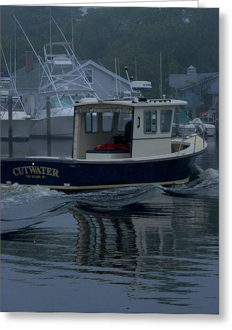 Long Island Photographs Greeting Cards - Cutwater Greeting Card by Christopher Kirby