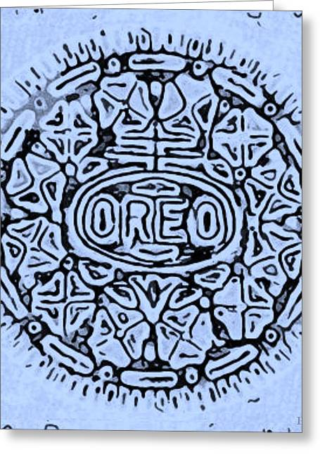 Oreo Greeting Cards - Cyan Oreo Greeting Card by Rob Hans