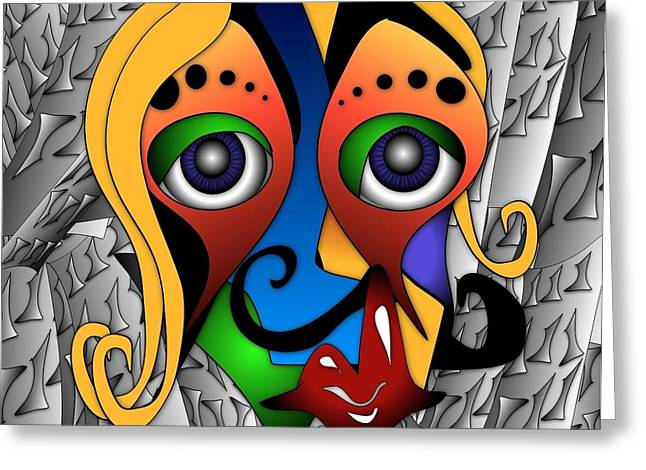 Best Sellers -  - Cartoonist Greeting Cards - Cyborg Greeting Card by Artzilla Ink