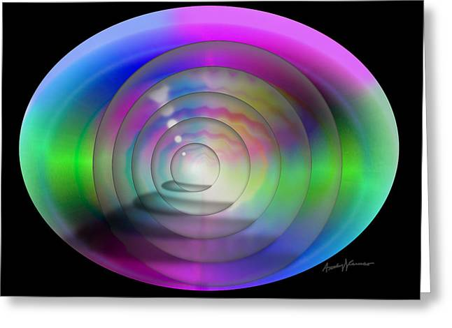 Abstract Orbs Greeting Cards - Cyborg Eye Greeting Card by Anthony Caruso