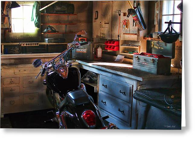 V Twin Greeting Cards - Cycle Barn 2 Greeting Card by Peter Chilelli