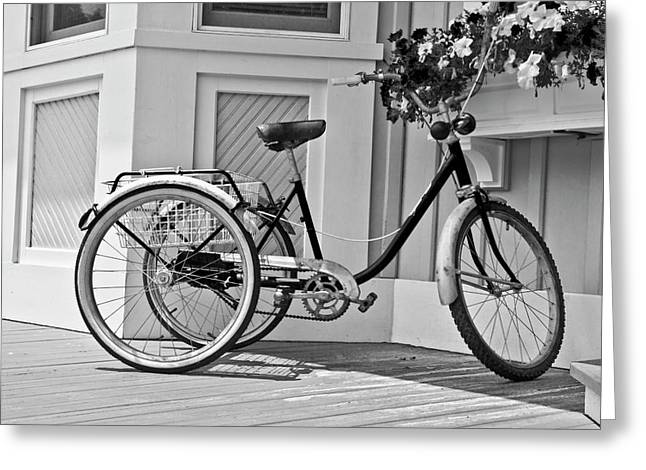 Tricycle Greeting Cards - Cycle Greeting Card by Betsy C  Knapp