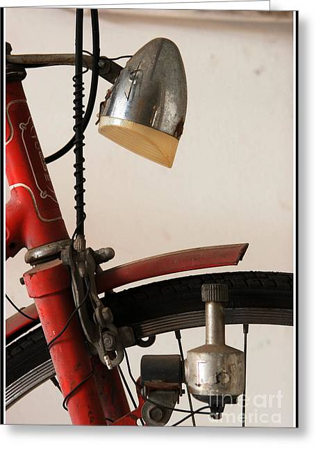Dynamos Greeting Cards - Cycle light Greeting Card by Michele Flaminio