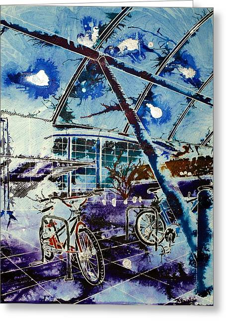 Milton Keynes Greeting Cards - Cycle Social Greeting Card by Cathy S R Read