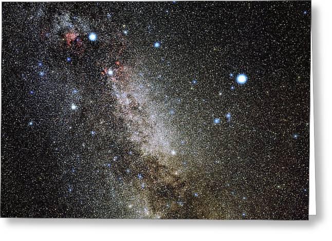 Deneb Greeting Cards - Cygnus And Lyra Constellations Greeting Card by Eckhard Slawik