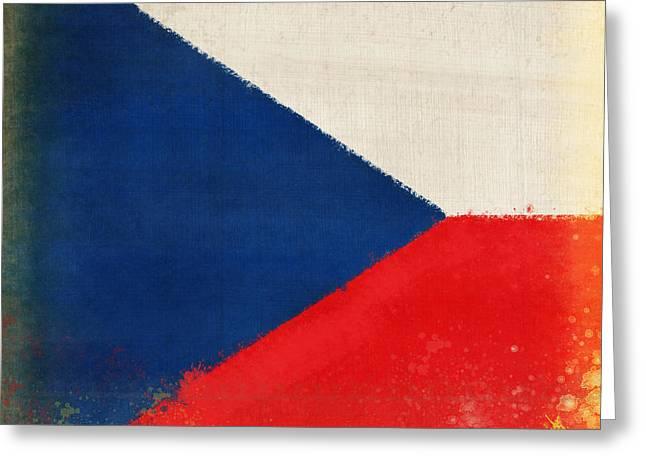Czech Republic flag Greeting Card by Setsiri Silapasuwanchai