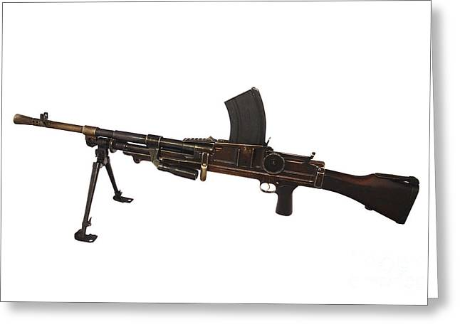 Copy Machine Greeting Cards - Czechoslovakian Light Machine Gun Greeting Card by Andrew Chittock