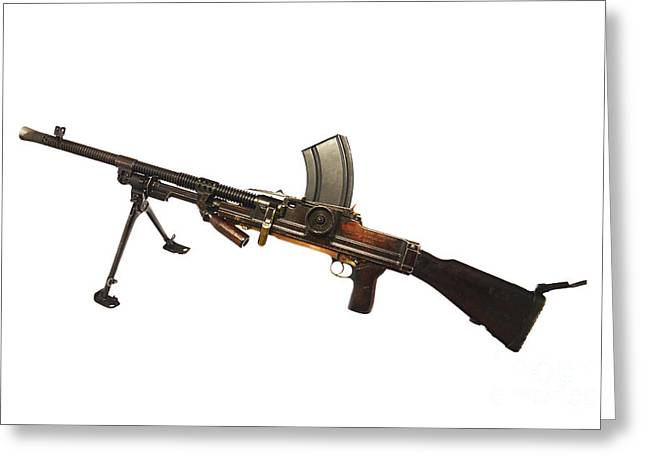 Bipod Greeting Cards - Czechoslovakian Zb Vz. 26 Light Machine Greeting Card by Andrew Chittock