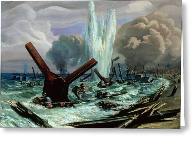 Operations Greeting Cards - D Day Greeting Card by Orville Norman Fisher