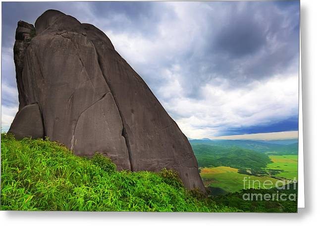 High Top Greeting Cards - Da Bia mountain peak Greeting Card by MotHaiBaPhoto Prints