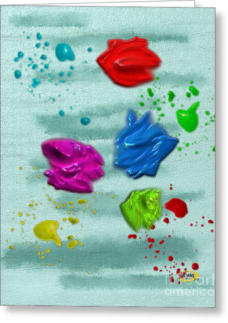 Dabs And Splats Greeting Card by Rod Seeley