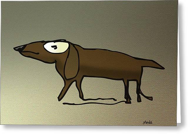 Dachshund Art Digital Art Greeting Cards - Dachshund Greeting Card by Daniel Meola