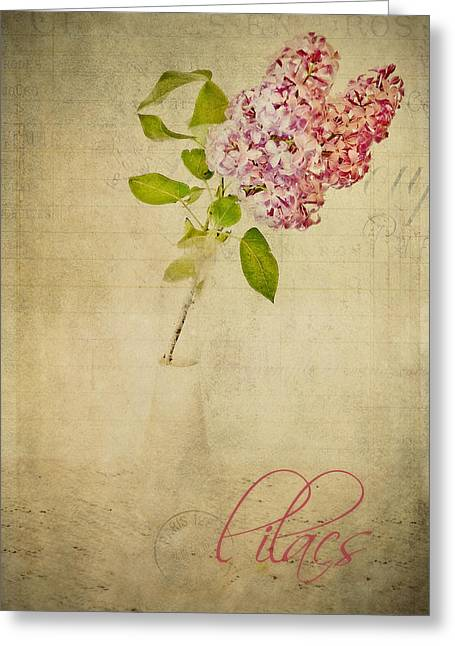 Flower Still Life Prints Photographs Greeting Cards - Daddys Lilacs Series IIi Greeting Card by Kathy Jennings