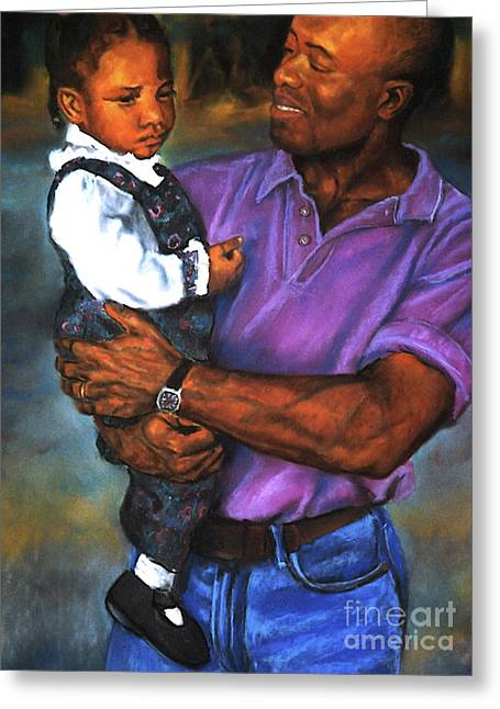 Curtis E. James Greeting Cards - Daddys Little Girl Greeting Card by Curtis James