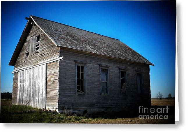 Daddys Old School House Greeting Card by Joyce Kimble Smith