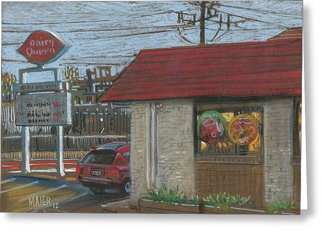 Food Pastels Greeting Cards - Dairy Queen Greeting Card by Donald Maier