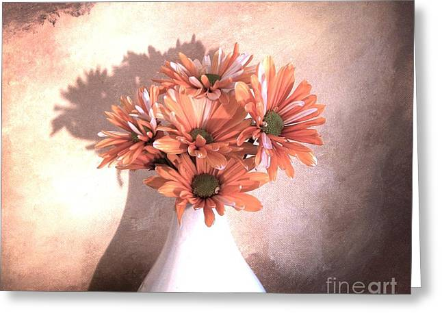 Pale Colors Greeting Cards - Daisy Daisy Greeting Card by Marsha Heiken