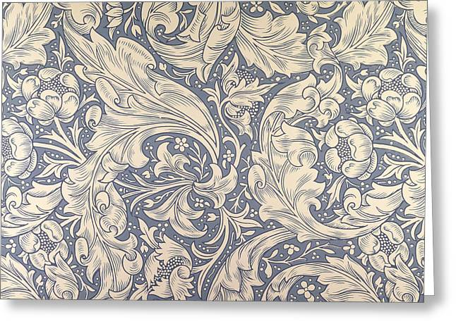 Daisy Design Greeting Card by William Morris