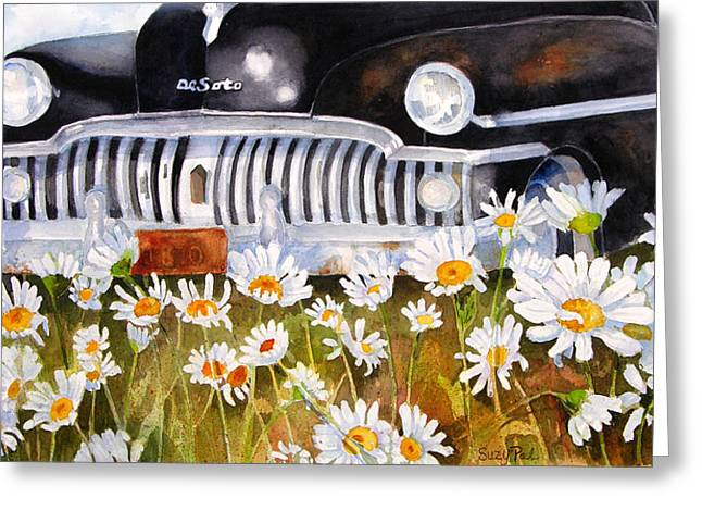 """texas Artist"" Greeting Cards - Daisy DeSoto Greeting Card by Suzy Pal Powell"