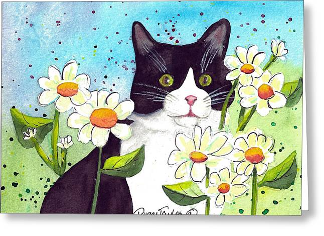 Daisy M. Tuxedo Greeting Card by Terry Taylor