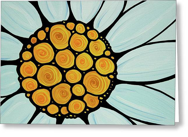 White Daisy Greeting Cards - Daisy Greeting Card by Sharon Cummings