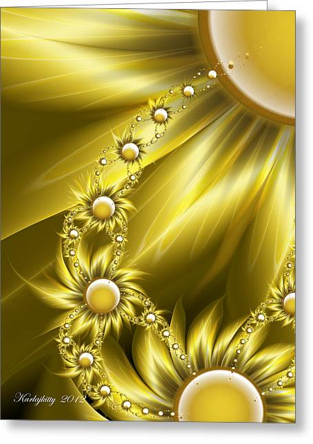 Karlajkitty Digital Art Greeting Cards - Daisy Sunshine Greeting Card by Karla White