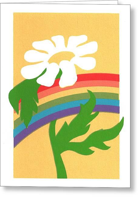 Daisy's Rainbow Greeting Card by Terry Taylor