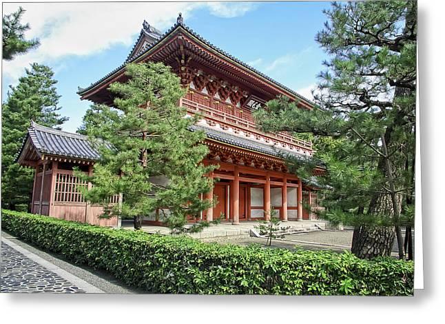 Kyoto Greeting Cards - Daitoku-ji Zen Temple Gate - Kyoto Japan Greeting Card by Daniel Hagerman