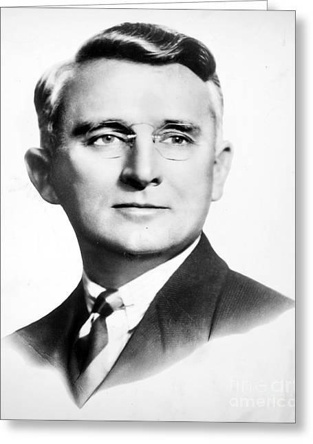 Orator Greeting Cards - Dale Carnegie (1888-1955) Greeting Card by Granger