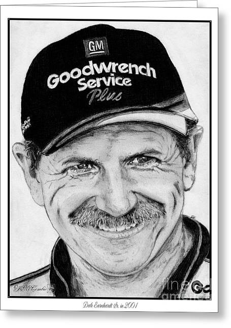Jem Fine Arts Greeting Cards - Dale Earnhardt Sr in 2001 Greeting Card by J McCombie