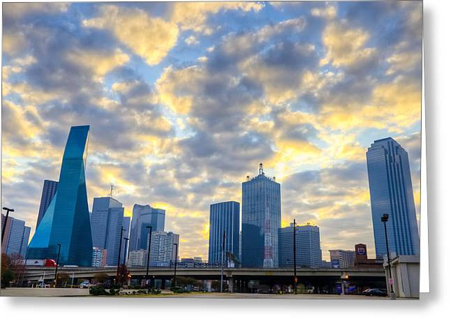 Center City Greeting Cards - Dallas Skyline Greeting Card by Drew Castelhano