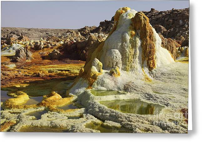 Mound Greeting Cards - Dallol Geothermal Area, Saline Hot Greeting Card by Richard Roscoe