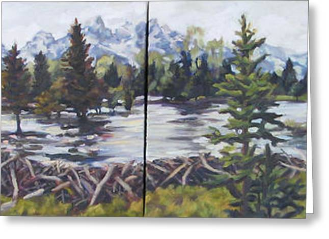 Flooding Greeting Cards - Dam Tetons Greeting Card by Patricia A Griffin