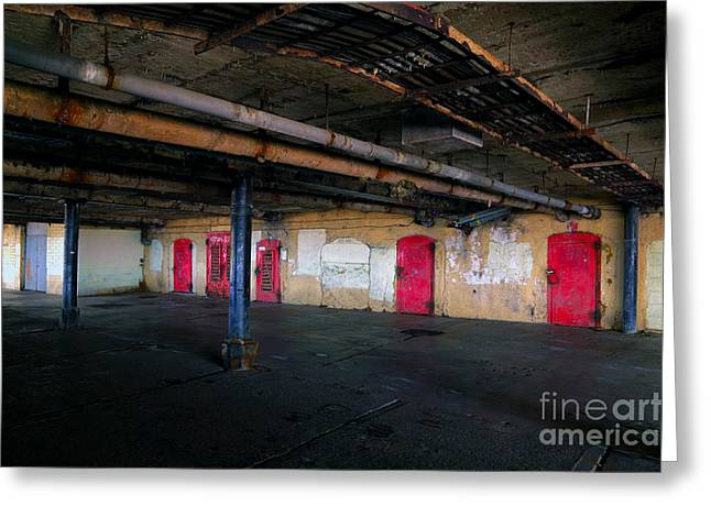 Damp basement area Greeting Card by Richard Thomas