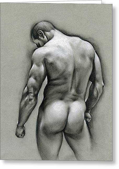 Male Drawings Greeting Cards - Dan Greeting Card by Chris  Lopez