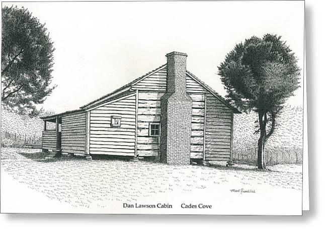 Dan Lawson Cabin Greeting Card by Mark Froehlich
