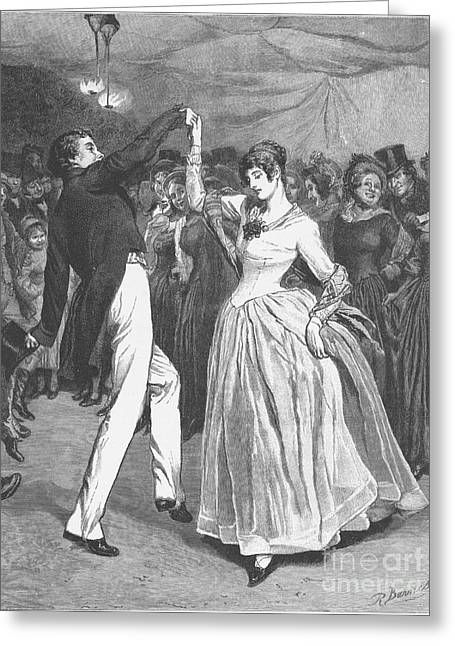 Ball Gown Greeting Cards - Dance, 19th Century Greeting Card by Granger