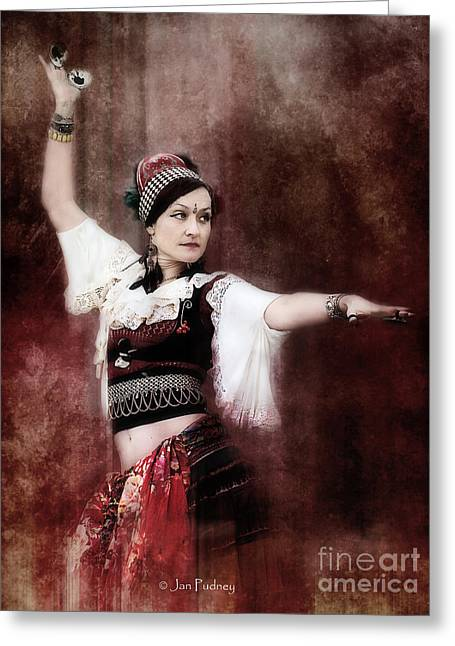 Tribal Belly Dance Greeting Cards - Dance 3 Greeting Card by Jan Pudney