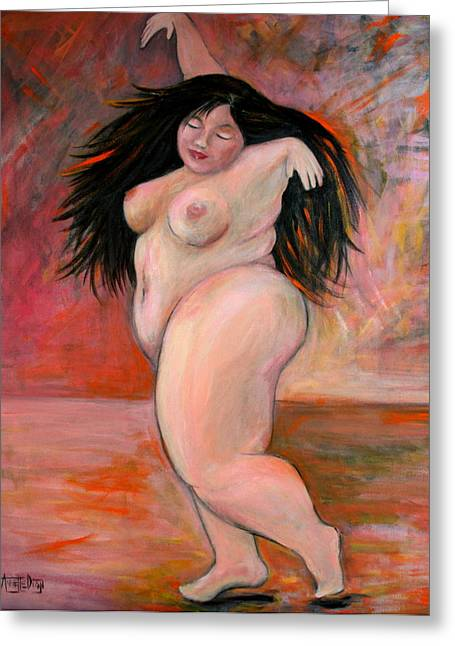 Large Women Greeting Cards - Dance Greeting Card by Annette Dion McGowan