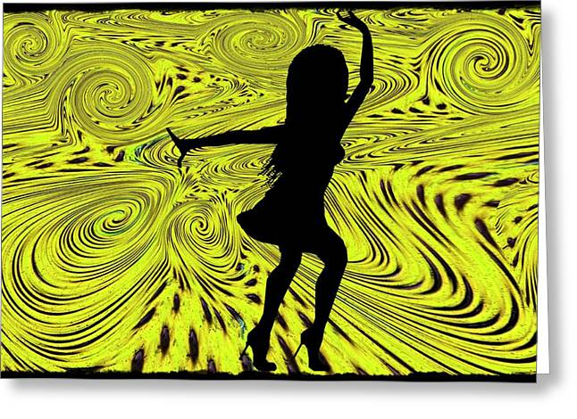 Dancing Girl Greeting Cards - Dance Greeting Card by Bill Cannon