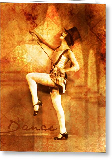 Dance Studio Greeting Cards - Dance Greeting Card by Cathie Tyler
