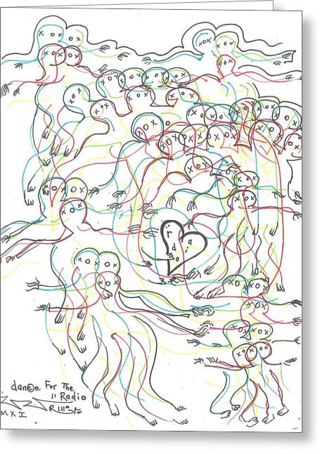 Raw Drawings Greeting Cards - Dance For The Radio Greeting Card by Robert Wolverton Jr