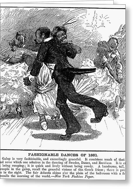 Galop Greeting Cards - Dance: Galop, 1881 Greeting Card by Granger