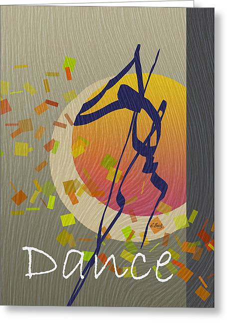 Free Form Greeting Cards - Dance Greeting Card by Gordon Beck
