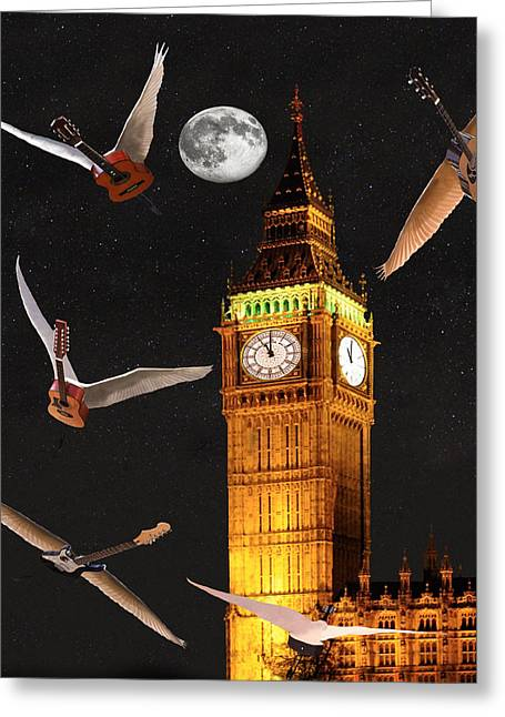 Buckingham Palace Digital Greeting Cards - Dance In The Dark Greeting Card by Eric Kempson