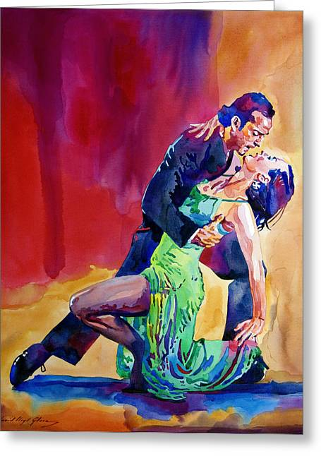 Tango Greeting Cards - Dance Intense Greeting Card by David Lloyd Glover