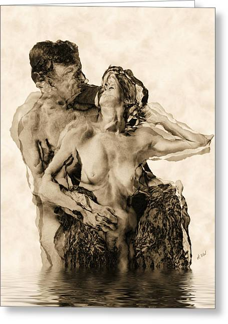 Sexy Greeting Cards - Dance Greeting Card by Kurt Van Wagner