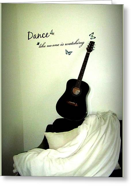 Guitare Greeting Cards - Dance Like No One Is Watching  Greeting Card by Danielle  Parent