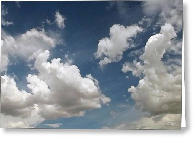Drifting Digital Art Greeting Cards - Dance Of The Clouds - Series Greeting Card by Glenn McCarthy Art and Photography