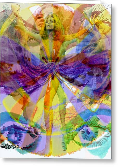 Dance Of Joy Greeting Cards - Dance of the Rainbow  Greeting Card by Seth Weaver